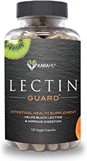 KaraMD Lectin Guard | Doctor Formulated Natural & Concentrated Lectin Blocker Digestive Blend Supplement | Complete Intestinal Health for Men & Women | Protect Against Harmful Lectins - 120 Capsules