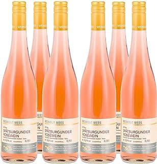 Weingut Mees SPÄTBURGUNDER ROSÈ TROCKEN GUTSWEIN 2019 Prämiert Roséwein Wein Deutschland Nahe Paket 6 x 750 ml 100% Blauer Spätburgunder