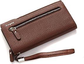 Lorna Imported Men and Women Designer Long Zipper Wallet Black/Brown/Coffee