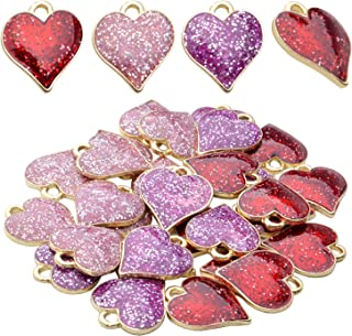 Love Heart pendant beads Antique Gold 8X14mm CM0240G Love Charms up to 20 pcs