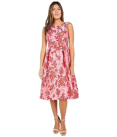 Adrianna Papell Cherry Blossom Jacquard Midi Dress Women