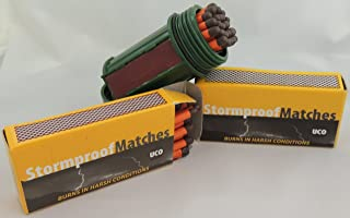 UCO Bundle - 2 Items Match Container Kit with 75 Stormproof Matches - Waterproof & Windproof