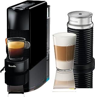Nespresso Essenza Mini Original Espresso Machine Bundle with Aeroccino Milk Frother by Breville, Piano Black