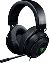 Razer Kraken 7.1 Chroma V2 USB Gaming Headset - Oval Ear Cushions - 7.1 Surround Sound with Retractable Digital Microphone and Chroma Lighting (Renewed)