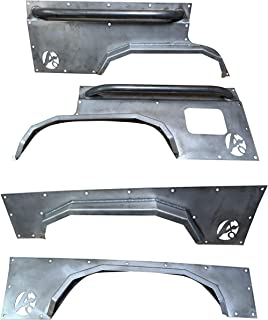 Front and Rear Elite Steel Fender Flares-Jeep Cherokee XJ 4 Door (84-01)