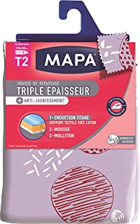 MAPA - Housse de Repassage pour table à repasser - Triple Epaisseur Titane - Meilleure glisse du fer - Anti-tâche et Anti-...