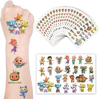 Baby Cartoon Temporary Tattoos Stickers, 20 Sheets 500PCs Animal Cocomel Fake Tattoo Sticker Set Birthday Party Supplies F...