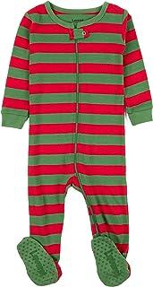Striped Baby Boys Girls Footed Pajamas Sleeper 100% Cotton Kids & Toddler Christmas Pjs (3...