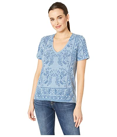 Lucky Brand Bandana Tee (Blue Multi) Women