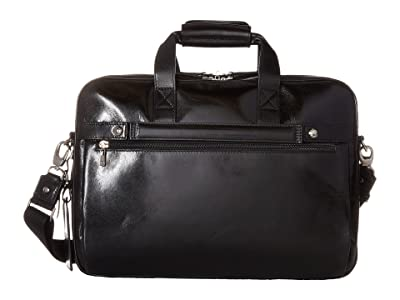 Bosca Old Leather Collection Stringer Bag (Black Leather) Briefcase Bags