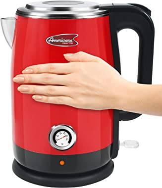 Maxi-Matic Americana by Elite EKT-1780R Retro Nostalgic Double Wall Insulated Cool Touch Electric Water Tea Kettle, BPA Free