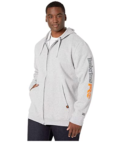 Timberland PRO Hood Honcho Sport Full Zip Tall (Light Grey Heather) Men