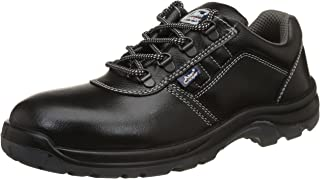 Allen Cooper AC-1267 Safety Shoe, Double Density DIP-PU Sole, Black, Size 8