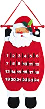 Northlight Seasonal Decorative Santa Advent Calender Hanging Christmas Decoration