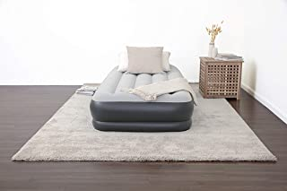 """SleepLux Durable Inflatable Air Mattress with Built-in Pump, Pillow and USB Charger, 15"""" Tall Twin"""