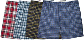 Fruit Of The Loom Mens Woven Tartar Boxers 4 Pack