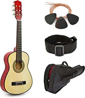 """Natural Wood Guitar With Case and Accessories for Kids/Boys/Beginners (30"""")"""
