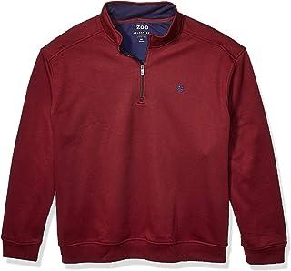 IZOD Men's Big and Tall Advantage Performance Quarter Zip Fleece Pullover Sweater