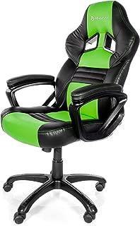 Arozzi Monza Series Gaming Racing Style Swivel Chair, Green/Black