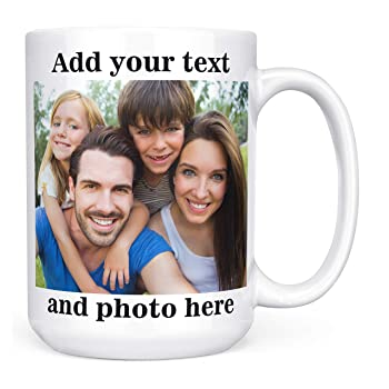 Amazon Com Design Your Personalized Photo Coffee Mug Upload Your Logo Or Photo To Create Your Custom Mug Kitchen Dining