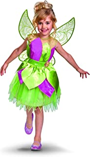 Disney Fairies Tinker Bell Deluxe Dress Girl Costume