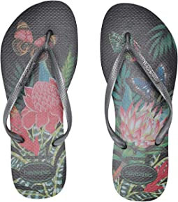 Slim Tropical Flip Flops