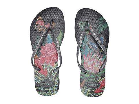 Havaianas Slim Tropical Flip Flops at Zappos.com 1ed081e24