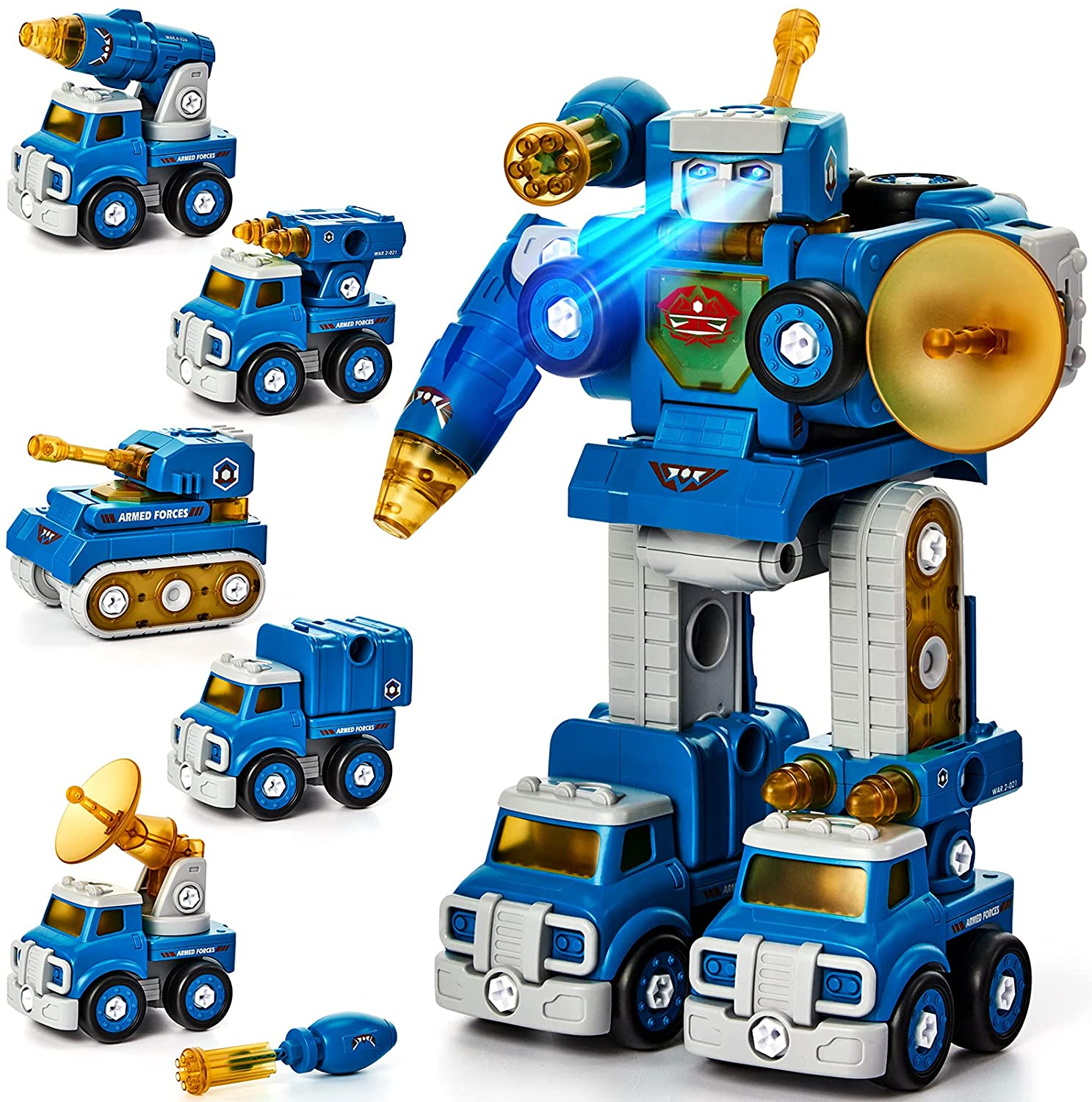 Max 65% OFF Take Apart Robot Toys Vehicle Set for in Construction 1 Choice 5