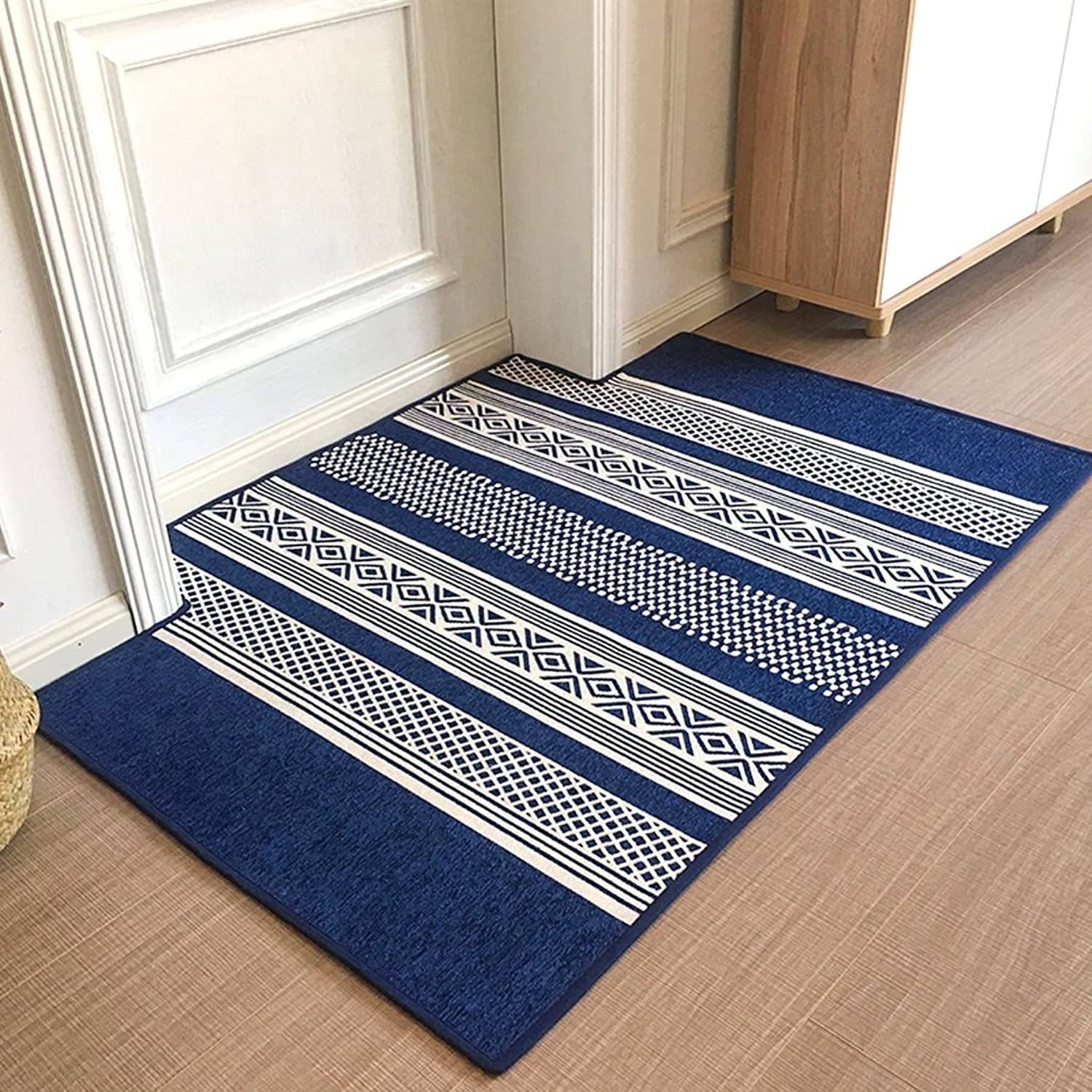 Doormat Door Mats Home Mats Carpets Carpets Beside The Bed Stylish Non-Slip Mats Foot-to-Door Mats Bedroom Doormats Soft and Comfortable (color   bluee, Size   80  120 cm)