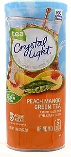 Crystal Light Peach Mango Green Tea Drink Mix, 5 Pitcher Packs, 1. 85 Ounce (Pack of 1)