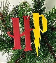 Harry Potter Ornament | Gryffindor | Lightning Bolt | Hogwarts | Geeky | Nerdy Gifts | Rear View Mirror | Hermione | Geek Gift | Nerd Gift