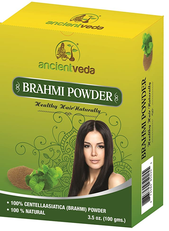 Brahmi Powder for hair growth, 7 Oz(Pack of 2 X 100 Gms) - No Fillers, No Preservatives, No Chemicals - Ancient Veda