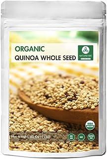 Organic Quinoa (5lb) by Naturevibe Botanicals, Gluten-Free & Non-GMO | Chenopodium quinoa | Rich in Protein...