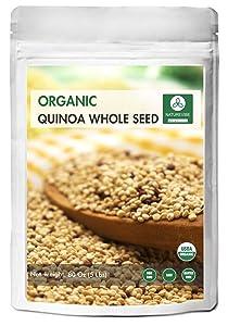 Organic Quinoa (5lb) by Naturevibe Botanicals, Gluten-Free & Non-GMO | Chenopodium quinoa | Rich in Protein, Iron & Fiber.