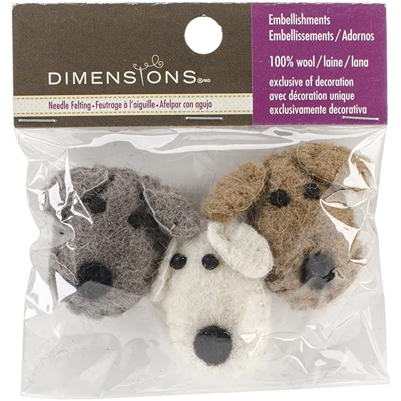 Dimensions Crafts 72-74033 Wool Dog Heads for Needle Felting