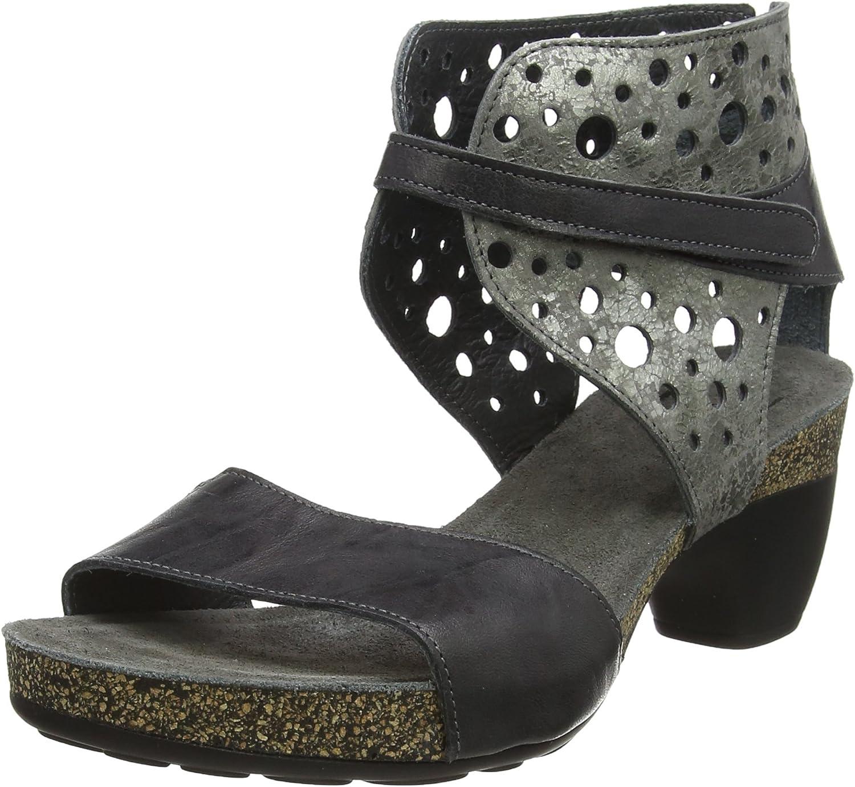 Think Women Sandals Traudi grey, (VULCANO KOMBI) 2-82579-21