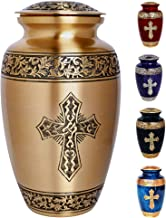 """Eternal Melodies Handcrafted Cremation Urn for Adult Ashes (10""""x6""""x6"""") - 100% Brass Handcrafted and Hand Painted – for Fun..."""