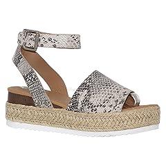 724d2b01205a MVE Shoes Women s Open Toe Ankle Braid Strap Sandals - Cute E ..