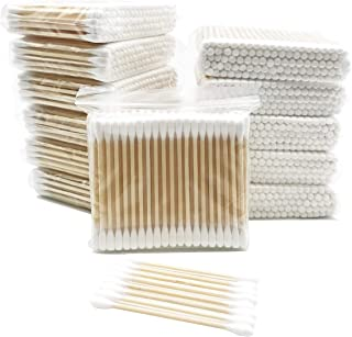 Wooden Cotton swabs 2400ct Individual Small Package / 100pcs Per Pack, 24 Packs