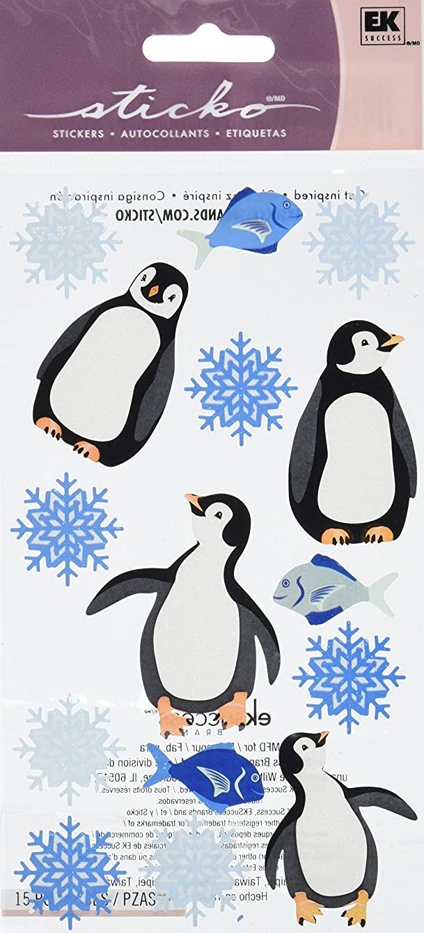 Sticko Christmas Stickers-Penguins