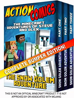 Action Comics Boxset: The Minecraft Adventures of Steve and Alex: The Snow Golem Adventure - Complete Boxset Edition (Part...