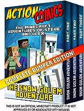 Action Comics Boxset: The Minecraft Adventures of Steve and Alex: The Snow Golem Adventure - Complete Boxset Edition (Parts 1, 2 & 3) (Minecraft Steve and Alex Adventures Boxset Series Book 6)