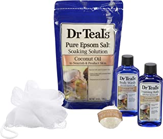 Dr. Teal's Epsom Salt Coconut Regimen Set with Reusable Container