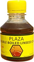 PLAZA - Double Boiled Linseed Oil - 100 ml Pack used for Wood Finishing, On Walls before applying paint, mixing in putty, ...