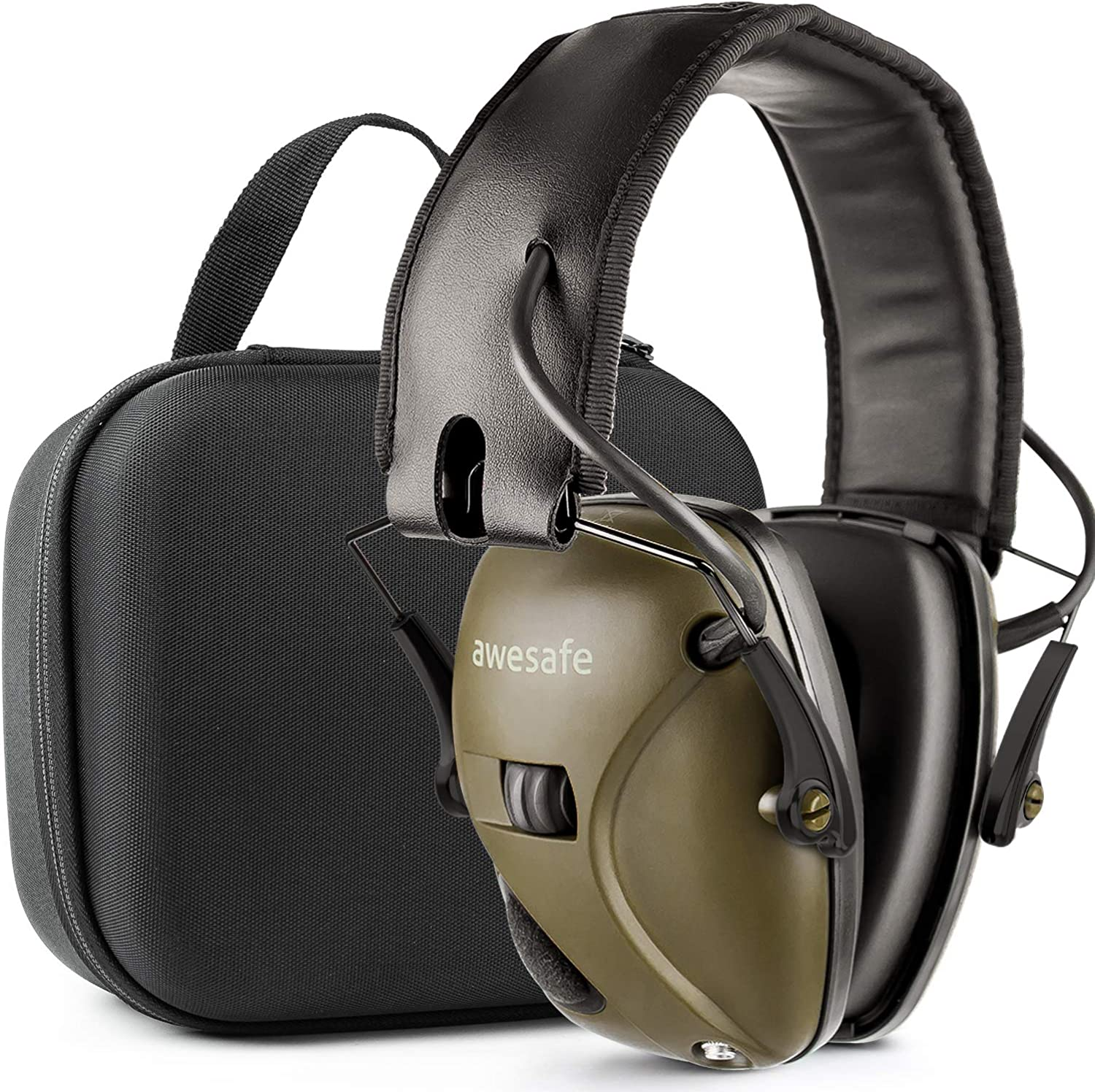awesafeus Shooting earmuffs Ear Storage Under blast sales Case Spring new work Protection with