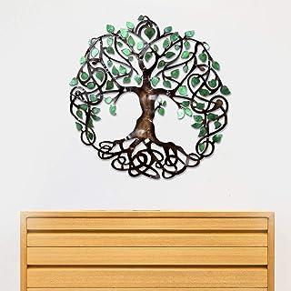Craftter Small Tree of Life Metal Wall Art, Decorative Wall Sculpture Handing Home Décor