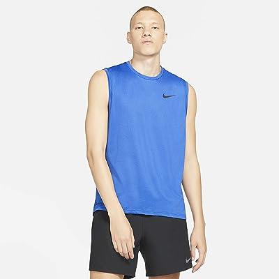 Nike Top Tank Hyper Dry (Blue Void/Game Royal/Heather/Black) Men