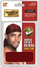 Beauty Town Premium Quality Satin Shine Silky Durag Long Tail Burgundy #21108