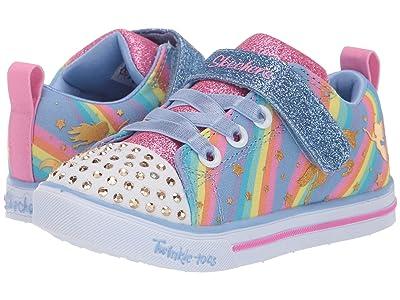 SKECHERS KIDS Twinkle Toes Sparkle Lite Magical Rainbows 20275N (Toddler) (Light Blue/Multi) Girl