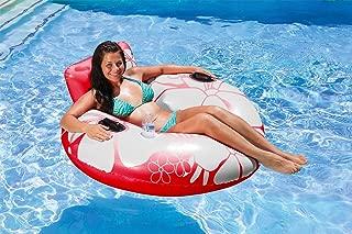 Poolmaster Day Dreamer Swimming Pool Inner Tube Lounge, Red